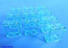 LEGO 1x2x2 Finestra / Vetro blu trasparente / 10-pc