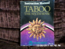 Taboo The Sixth Sense (NES Nintendo) Instruction Manual Only.. NO GAME