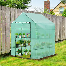 More details for outsunny 1.4 x 1.4 x 2m garden polytunnel greenhouse plastic plant grow tent