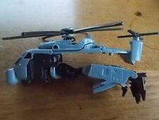 Vintage Transformers Vehicle Helicopter BLOCKOUT CHOPPER Aircraft Sides Missing