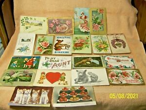 #2 Lot of 20 Vintage POST CARDS 1909-1926