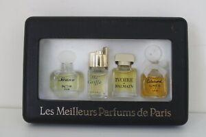 VINTAGE 'Les Meilleurs Parfums De Paris' set of 4 Mini Perfumes Inc Balmain