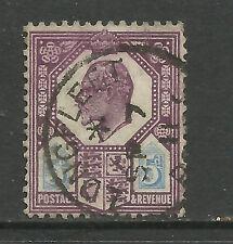 GB 1902 - 11 KEV11 5d Purple / blue used Wmk 49 ( R422 )