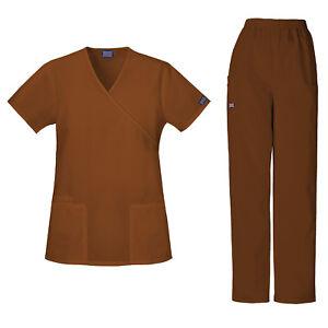 Cherokee Scrubs Set ORIGINAL Women's Mock Wrap Top & Pant 4801/4200 Tall
