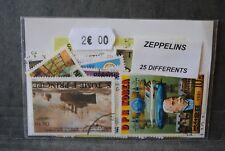 Zeppelins, 25 timbres thématiques, tous différents