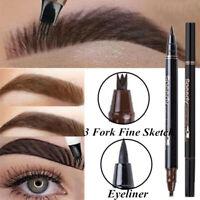 Microblading Tattoo Eyebrow Ink 3 Fork Tip Pen Eye Brow 3D Makeup Pencil 3Colors