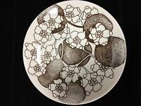 Set of Ten 1970's Mid Century Modern Gustavsberg Emma Brown Plates - Rare