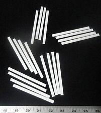 LOT OF EIGHT (8) THIN RECTANGULAR ALUMINA CERAMIC SHIMS SUBSTRATE PLATE No.: 508