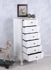 Kommode Weiss antik Schrank Shabby Chic 6 Schubladen Vintage Landhaus Sideboard