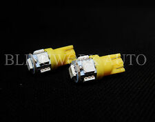 1 Pair T10 W5W Wedge SMD LED Amber Yellow side indicator parker lights