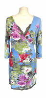 Joe Browns Floral Wrap Dress With Lace Detail Size 12