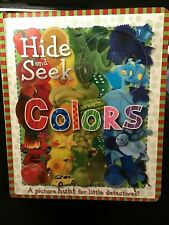 HIDE AND SEEK COLORS Child's Board Book 2007 ~Super Colorful~ *BRAND NEW*