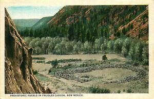 Postcard Prehistoric Pueblo in Frijoles Canyon, New Mexico - circa 1920s