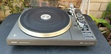 Vintage Philips 877 Super Electronic Direct Control Turntable Works