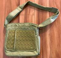 Lug Green Womens Shoulder Bag Cross body Zipper Closure Adjustable Strap