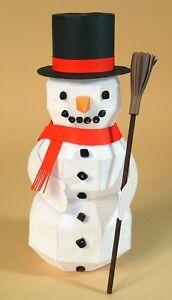 A4 Card Making Templates - 3D Snowman.