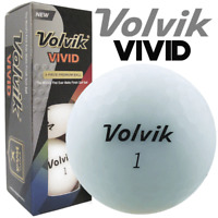 """NEW 2018"" VOLVIK VIVID MATTE FINISH 3 PIECE GOLF BALLS / WHITE / 3 BALL PACK"