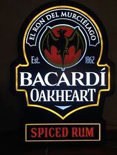 Bacardi Oakheart LED Sign 🔥 Bar Sign - Spiced Rum / Original Packaging