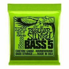 Ernie Ball Bass Guitar String Bass 5 Regular Slinky 45-130 Set Gauge Round Wound