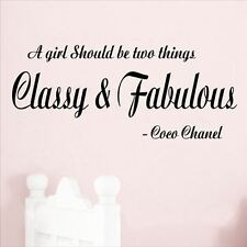 Huhome PVC Wall Stickers Wallpaper Classy and Fabulous English Chanel famously