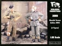 Verlinden 1:35 WWII Wounded German Soldiers - 2 Resin Figures Kit #2059