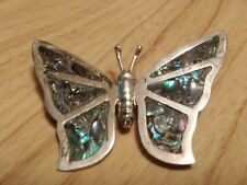 STERLING SILVER 925 BUTTERFLY RRB WITH ABALONE