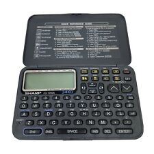 Sharp Zq-1220A 34Kb Electronic Organizer Tested, Works - Needs New Batteries