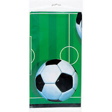 SOCCER PLASTIC TABLECOVER SOCCER THEME BIRTHDAY PARTY TABLECLOTH