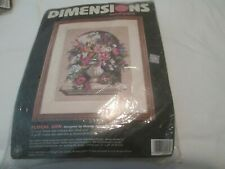 Floral Urn-Dimensions-Needlepoin t Kit