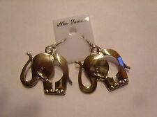 Ohrringe mit silberfarbenem Elefanten aus Metall mit Rüssel süsss Leicht 616
