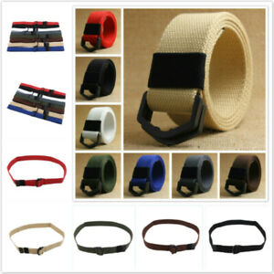 Mens Tactical Military Belt Army Training Belt W/ D-type Buckle Waistband CS