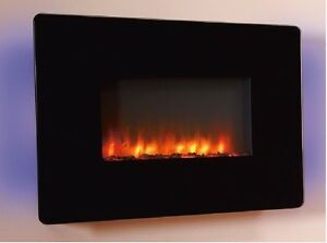 Senso Fireplaces LED Electric Wall Mounted Fire Full Remote Control