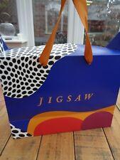 Jigsaw Multi Coloured Card Box Style Carrier Gift Bag  - 32cm x 25cm