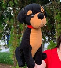 Vintage BJ Toy Company LARGE Doberman Pinscher Puppy Dog Plush Stuffed Animal