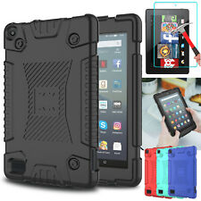 For Amazon Fire 7 2019/HD 8 2018 9th Gen Tablet Case TPU Cover /Screen Protector