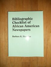 Bibliographic Checklist of African American Newspapers Genealogy Book