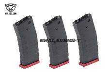 APS Froged Match Rifle FMR 300 Rds Airsoft Magazine For AEG (Red, 3PCS) AER032R