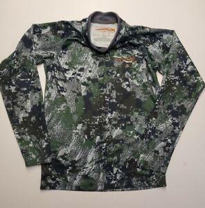 PRE-OWNED Sitka Gear Core Long Shirt  Optifade Forest boys Medium M EUC