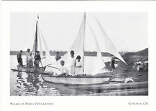 "+PC-Postcard-""Sailing On Buena Vista Lagoon"" -1930's- Carlsbad, CA. (#41)"