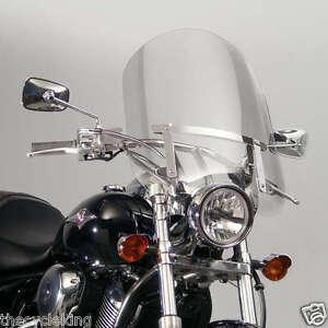 "Yamaha XV 250 V-Star / Virago / Route 66 Clear 20"" Windshield w/chrome hardware"