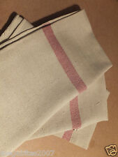 5 Pack B Grade Catering Standard Oven Cloth Red Stripe Weight 130g, 75x 50cm