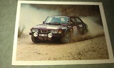 SAAB 99 EMS Rally  Car-  WEETBIX AUSTRALIA Fast Wheels  Swap Card
