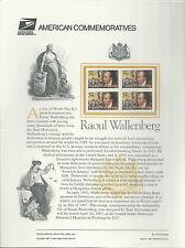 # 3135 RAOUL WALLENBERG, WWII HUMANITARIAN  1997 Commemorative Panel