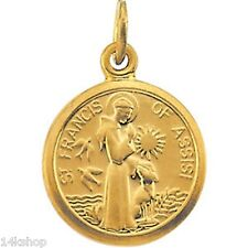 14K Solid GOLD Tiny St  St. Saint Francis of Assisi  Animal Lovers Adorable