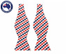 Men's Bowtie White Red Black Gingham Self-tied Formal Checks Self tie Bow tie