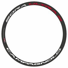 CAMPAGNOLO BORA ULTRA 35 3D WHITE & RED REPLACEMENT RIM DECAL SET FOR 2 RIMS