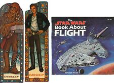 Star Wars BOOK About FLIGHT & Bookmark LOT - '83 vtg Han Solo Chewbacca