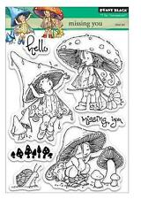 New Penny Black RUBBER STAMP Clear set MISSING YOU friendship love Free us ship