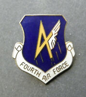 Fourth Air Force 4th USAF Hat Jacket Lapel Pin 1 inch US