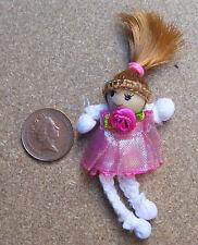 1:12 Scala Rosa Rag Bambola Con di Legno Testa Tumdee Casa Delle Accessorio PT